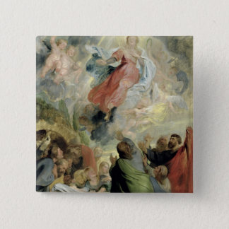 The Assumption of the Virgin Mary Button