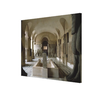 The Assyrian Room at the Louvre in Paris (photo) Canvas Print
