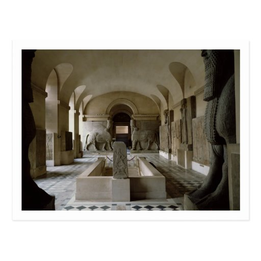 The Assyrian Room at the Louvre in Paris (photo) Postcard