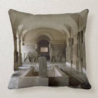 The Assyrian Room at the Louvre in Paris (photo) Throw Pillow