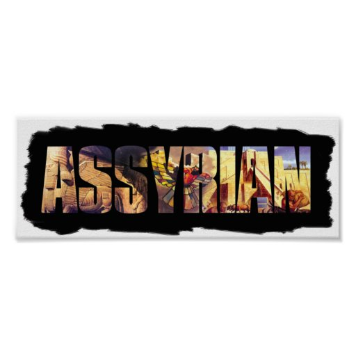 The Assyrian Word Poster
