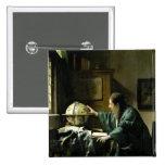 The Astronomer, 1668 2 Inch Square Button
