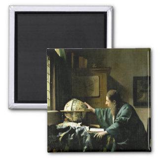 The Astronomer, 1668 2 Inch Square Magnet