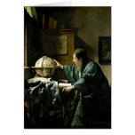 The Astronomer, 1668 Greeting Card