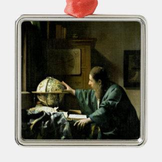 The Astronomer, 1668 Square Metal Christmas Ornament