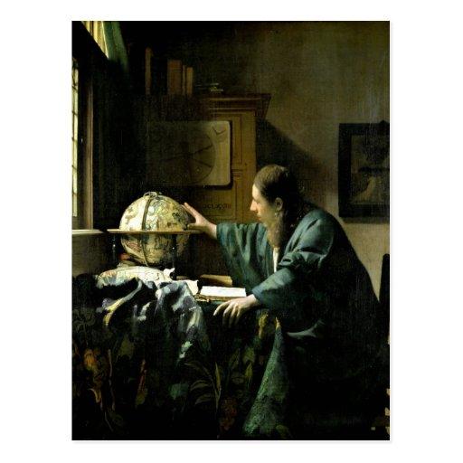 The Astronomer, 1668 Postcard
