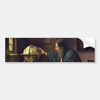 The Astronomer by Johannes Vermeer Bumper Sticker