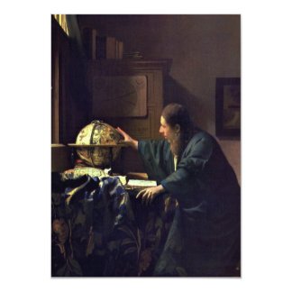 The Astronomer by Johannes Vermeer Card