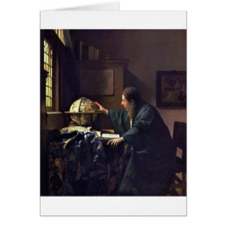The Astronomer by Johannes Vermeer Cards