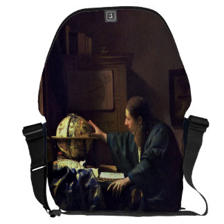 The Astronomer by Johannes Vermeer Courier Bag
