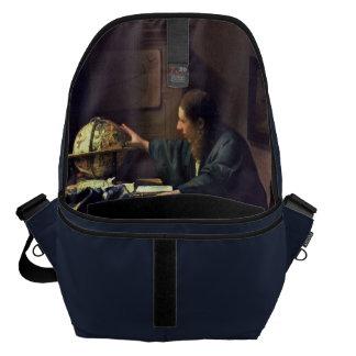 The Astronomer by Johannes Vermeer Inside Messenger Bag