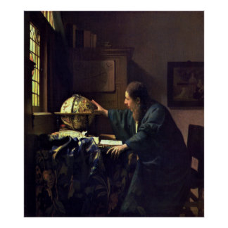 The Astronomer by Johannes Vermeer Large Poster