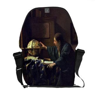 The Astronomer by Johannes Vermeer Messenger Bag