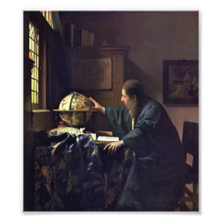 The Astronomer by Johannes Vermeer Photo Print