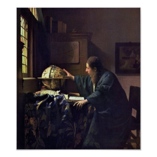 The Astronomer by Johannes Vermeer Print