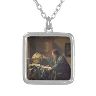 The Astronomer by Johannes Vermeer Square Pendant Necklace