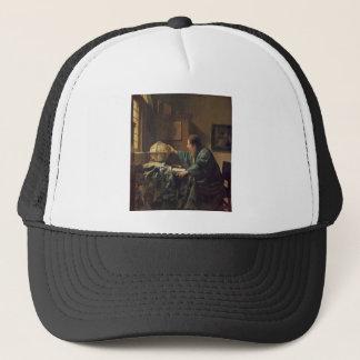 The Astronomer by Johannes Vermeer Trucker Hat