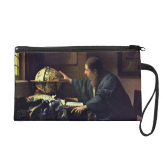 The Astronomer by Johannes Vermeer Wristlet Purse
