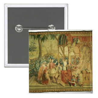 The Astronomers, woven at Beauvais 2 Inch Square Button