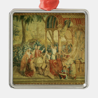The Astronomers, woven at Beauvais Christmas Tree Ornament