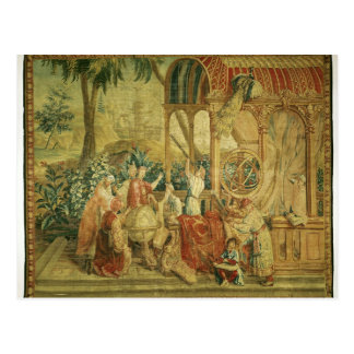 The Astronomers, woven at Beauvais Postcard