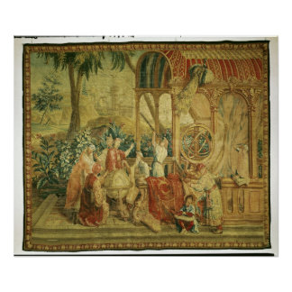 The Astronomers, woven at Beauvais Poster
