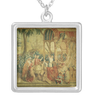 The Astronomers, woven at Beauvais Square Pendant Necklace