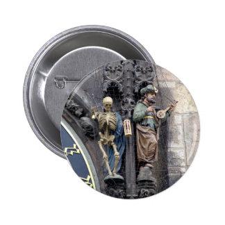The Astronomical Clock Pinback Button