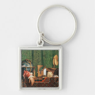 The astronomical instruments Silver-Colored square keychain