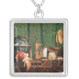 The astronomical instruments square pendant necklace