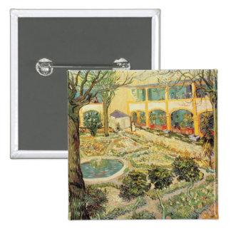 The Asylum Garden at Arles, 1889 (oil on canvas) Button