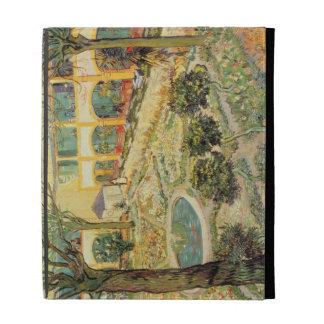 The Asylum Garden at Arles, 1889 (oil on canvas) iPad Folio Covers
