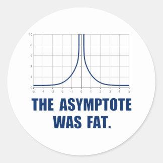 The Asymptote was Fat Classic Round Sticker