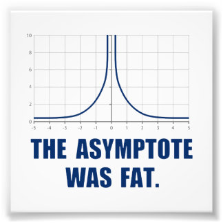 The Asymptote was Fat Photo Print