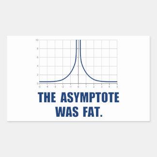 The Asymptote was Fat Rectangular Sticker