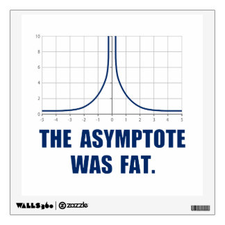 The Asymptote was Fat Wall Sticker
