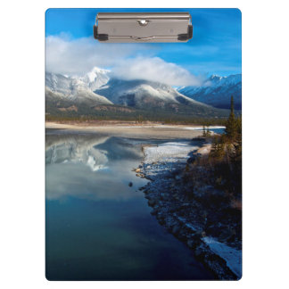 The Athabasca River in Jasper National Park Clipboard