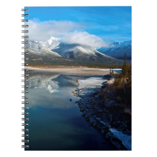 The Athabasca River in Jasper National Park Notebook