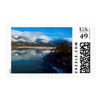 The Athabasca River in Jasper National Park Postage