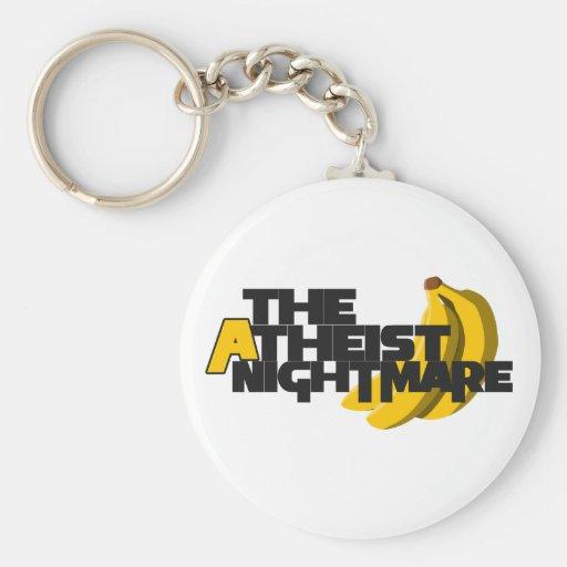 The Atheist Nightmare Basic Round Button Keychain