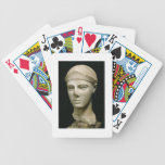 The Athena of Aegina, wearing a helmet, head of a Bicycle Playing Cards