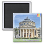 The Atheneum 2 Inch Square Magnet