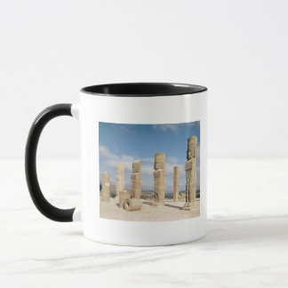 The atlantean columns on top of Pyramid B Mug