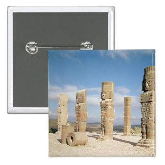 The atlantean columns on top of Pyramid B Pinback Button