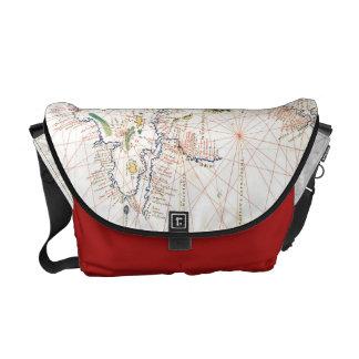 The Atlantic Chart Messenger Bags