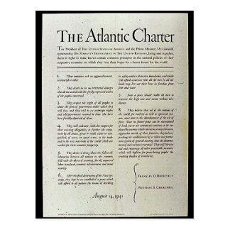 The Atlantic Charter Postcard