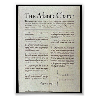 The Atlantic Charter Poster