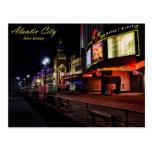 The Atlantic City Boardwalk at Night Postcards