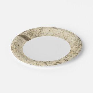 The Atlantic Ocean Paper Plate