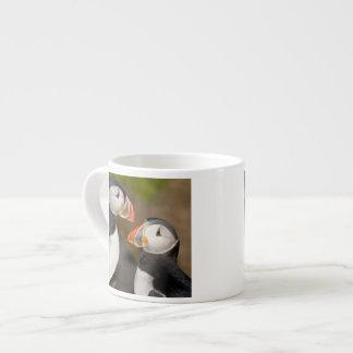 The Atlantic Puffin, a pelagic seabird, shown Espresso Mug
